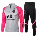 Survetement Paris Saint Germain 2021-22 Gris Rose Noir