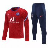 Survetement Paris Saint Germain 2021-22 Rouge Bleu