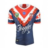 Thailande Maillot Sydney Roosters Anzac 2018 Bleu