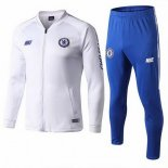 Survetement Chelsea 2019-20 Blanc Bleu
