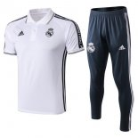 Polo Conjunto Complet Real Madrid 2019-20 Blanc