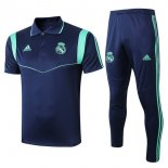 Polo Real Madrid Conjunto Complet 2019-20 Bleu Marine