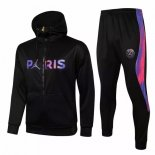 Sweat Shirt Capuche Paris Saint Germain 2021-22 Noir Purpura