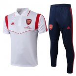 Polo Arsenal Conjunto Complet 2019-20 Blanc Rouge