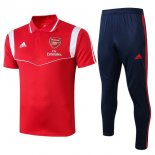 Polo Arsenal Conjunto Complet 2019-20 Rouge Blanc