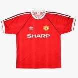 Thailande Maillot Manchester United 1ª Retro 1990 1992 Rouge