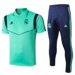 Polo Conjunto Complet Real Madrid 2019-20 Vert Bleu
