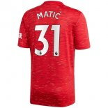 Maillot Manchester United NO.31 Matic 1ª 2020-21 Rouge
