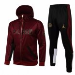 Sweat Shirt Capuche Paris Saint Germain 2021-22 Bordeaux Noir