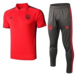 Polo Conjunto Complet Bayern Munich 2019-20 Rouge Gris