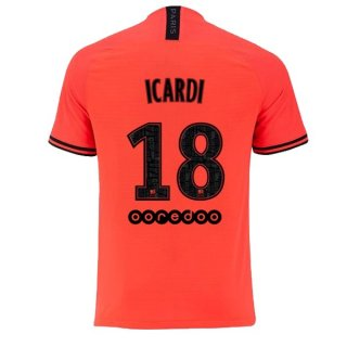 Maillot Paris Saint Germain NO.18 Icardi 2ª 2019-20 Orange