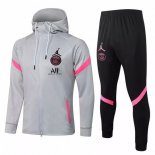 Sweat Shirt Capuche Paris Saint Germain 2021-22 Gris Noir