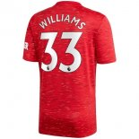 Maillot Manchester United NO.33 Williams 1ª 2020-21 Rouge