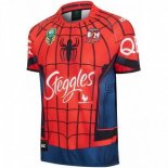 Thailande Maillot Sydney Roosters Spider Man 2017 2018 Rouge